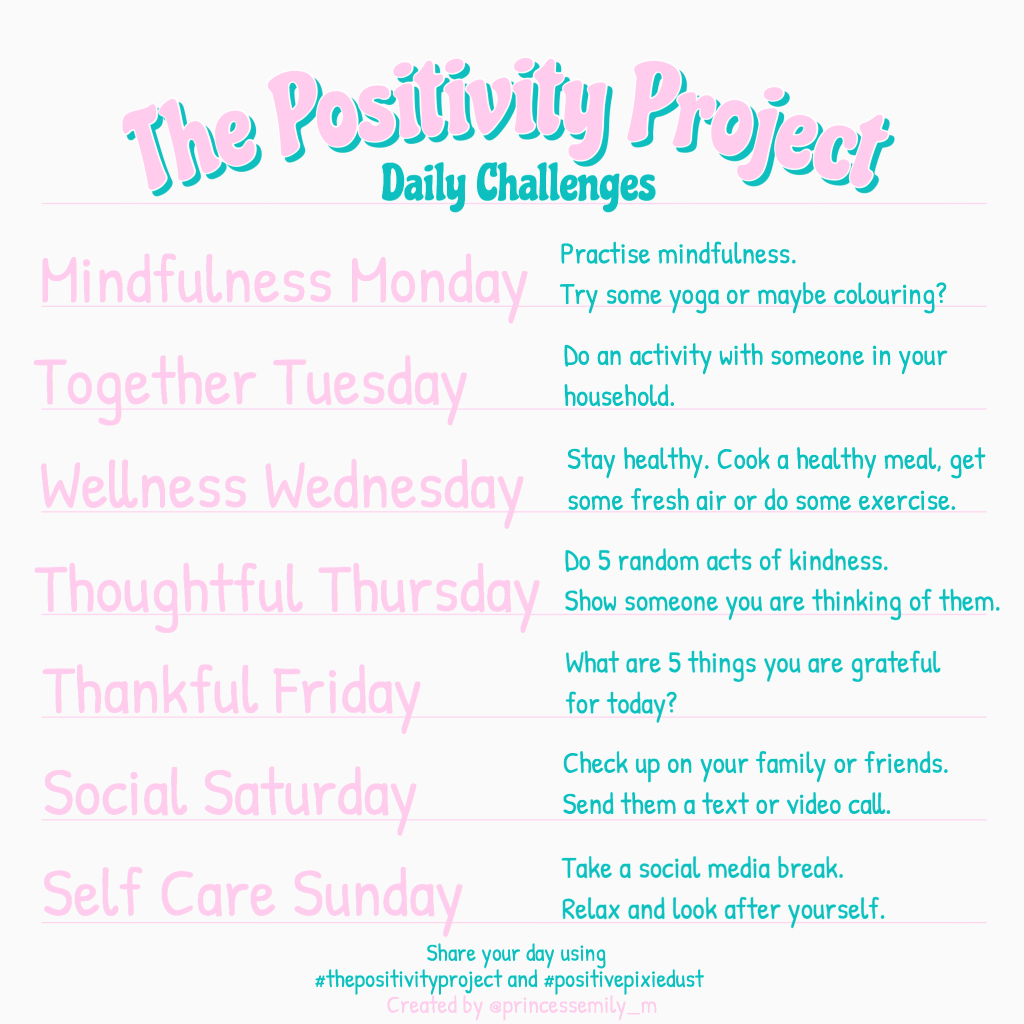 The Positivity Project Daily Challenges v1