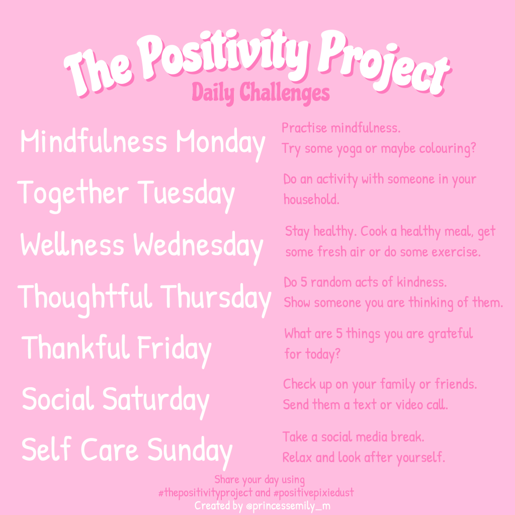 The Positivity Project Daily Challenges v2