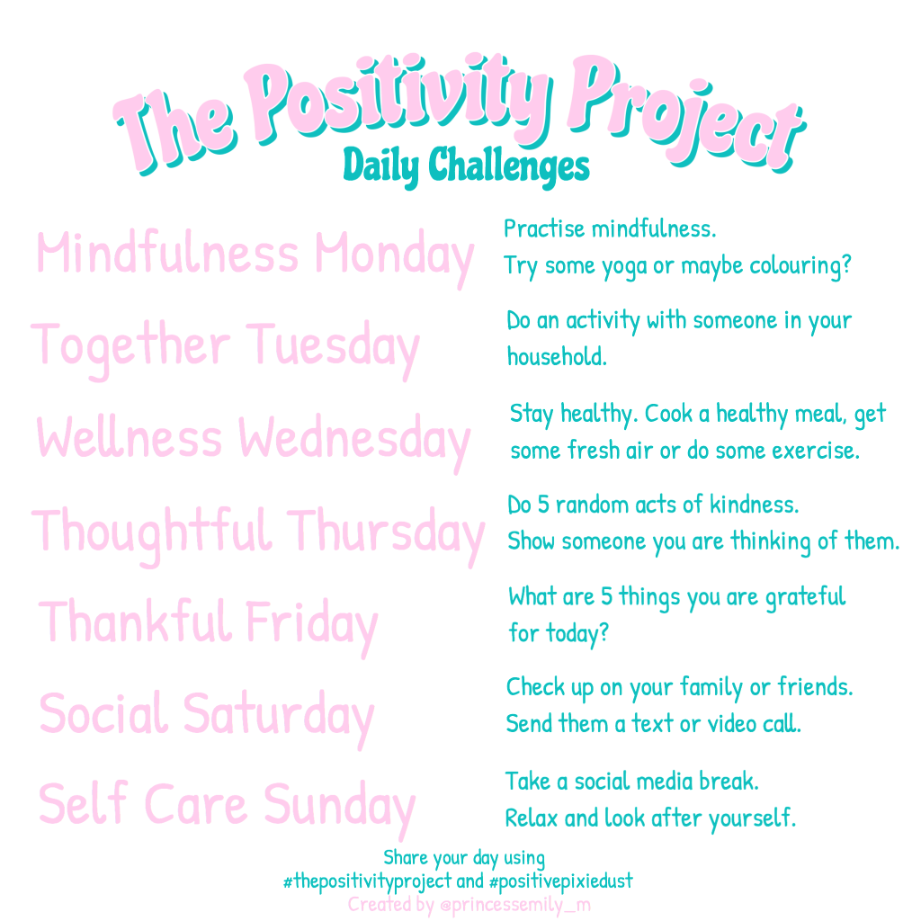 The Positivity Project Daily Challenges v4