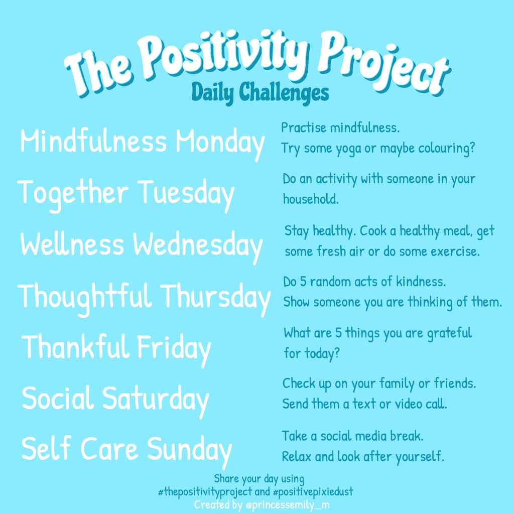 The Positivity Project Daily Challenges v5