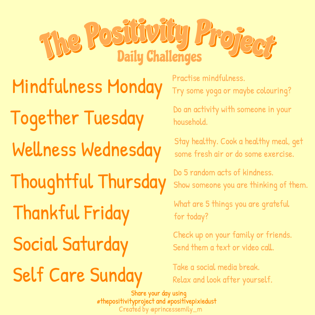 The Positivity Project Daily Challenges v6